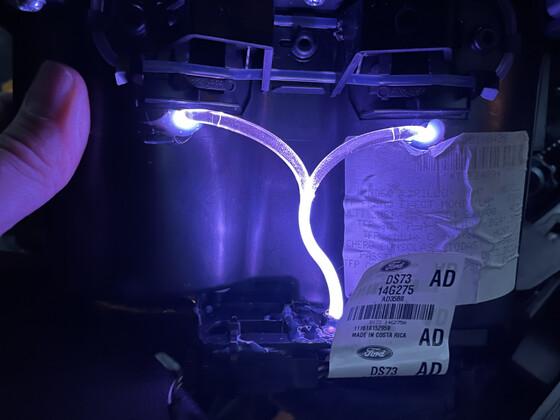 Trinkbecherhalter mit LED der Fond Fußraumbeleuchtung