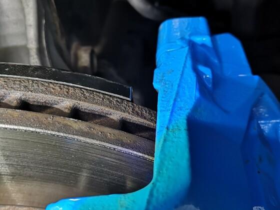Anpassung Hitze blech(Bremsscheiben) vom bremsen Umbau